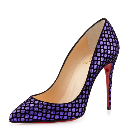 Christian Louboutin Pigalle Follies Glittered Red Sole Pump