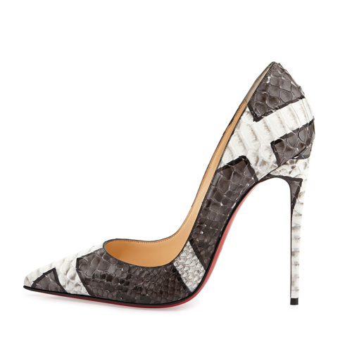 Christian Louboutin So Kate Python Red Sole Pump 2