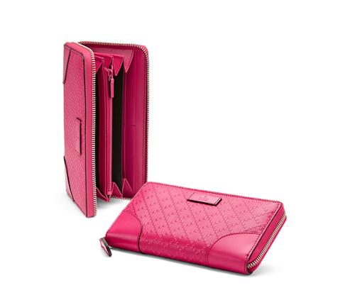 Gucci Bright Diamante Leather Zip Around Wallet