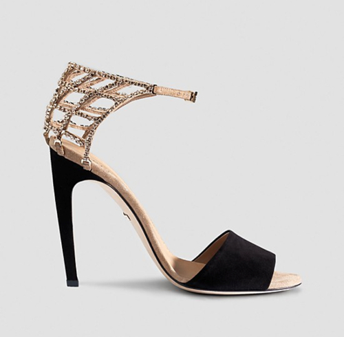 Gucci Michelle Crystal Cage Sandal 2