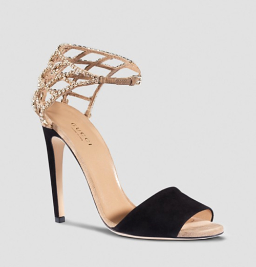 Gucci Michelle Crystal Cage Sandal