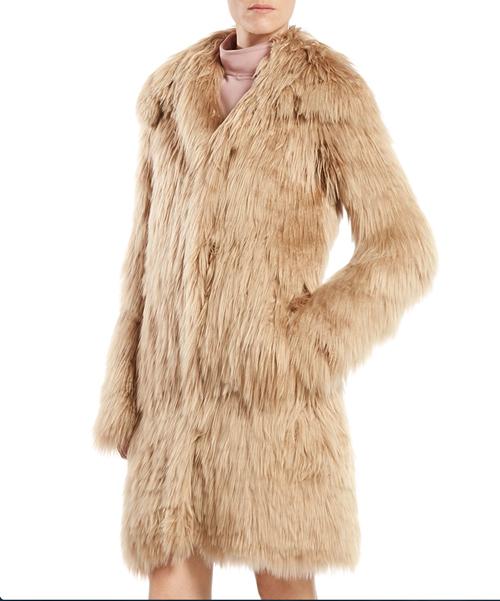 Gucci Single Breasted Alpaca Fur Jacket