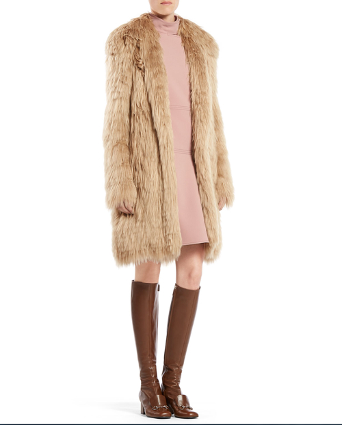 Gucci Single Breasted Alpaca Fur Jacket 3