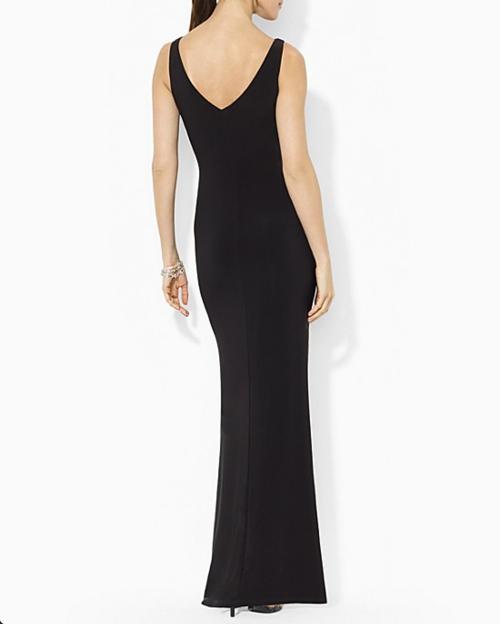 Lauren Ralph Lauren Matte Jersey Color Block Gown 2