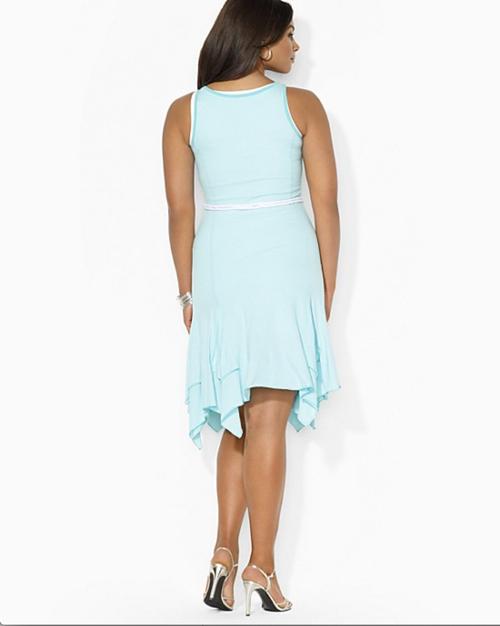 Lauren Ralph Lauren Plus Sleeveless Belted Dress 2