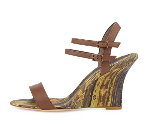 Manolo Blahnik Amim Cork Wedge Sandal 2