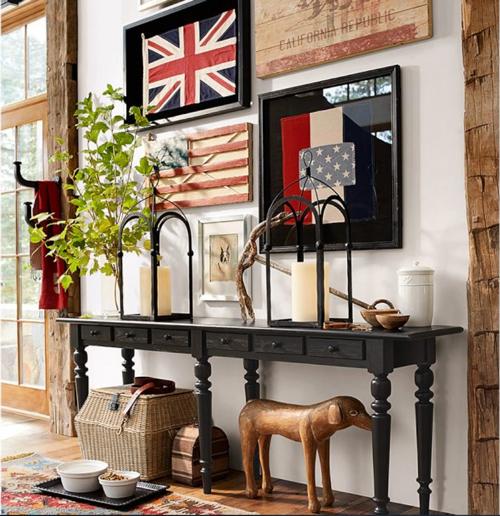 Pottery Barn American Flag Wall Art 2