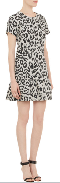 Sea Leopard Print Flounce Dress 2