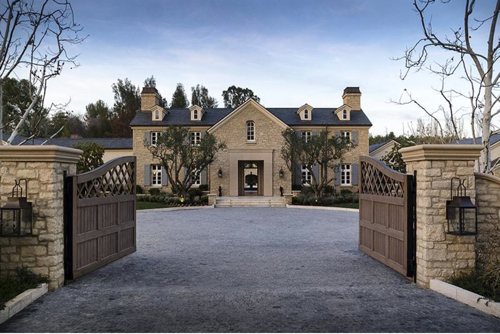 $20 Million Country French Mansion Just Purchased by Kim Kardashian and Kanye West in Hidden Hills California 2