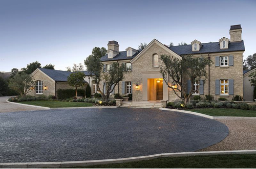 $20 Million Country French Mansion Just Purchased by Kim Kardashian and Kanye West in Hidden Hills California