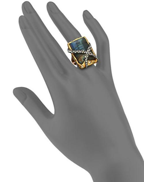 Alexis Bittar Elements Phoenix Labradorite Rocky Rectangle Ring 2