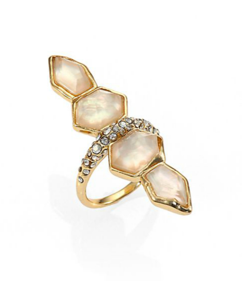 Alexis Bittar Light Citrine & Mother-of-Pearl Doublet Ring