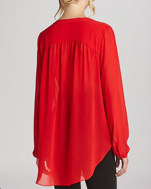 BCBGeneration Shirred Chiffon Blouse 2