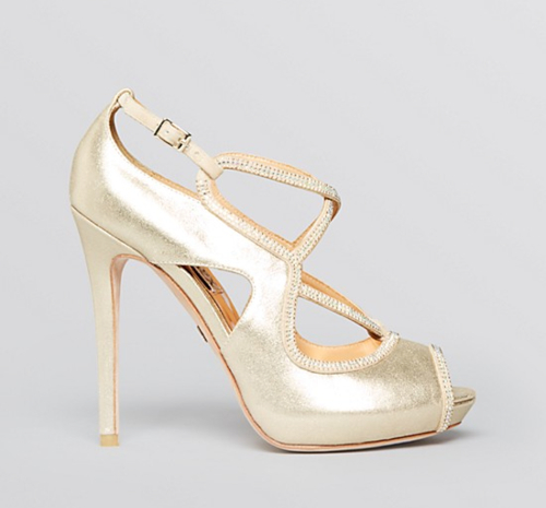 Badgley Mischka Laguna Open Toe Platform Evening Sandals 2