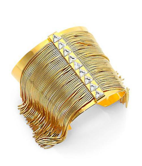 CA&LOU Fringe Allover Cuff Bracelet