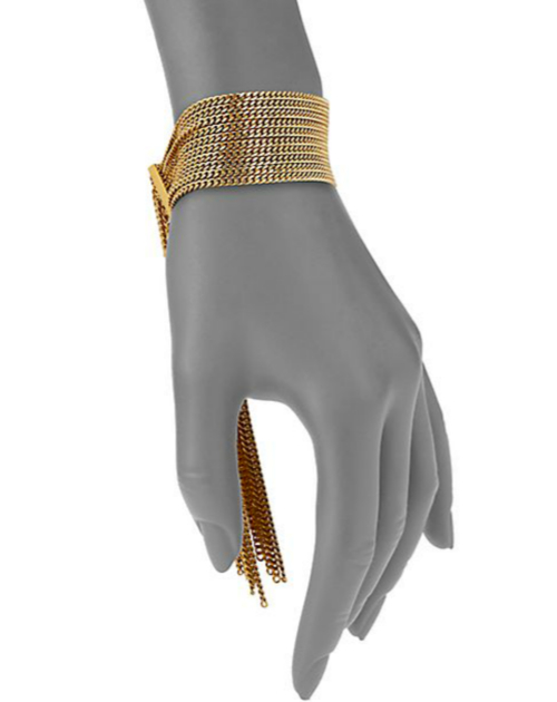Chloé Delfine Fringe Chain Cuff Bracelet 2