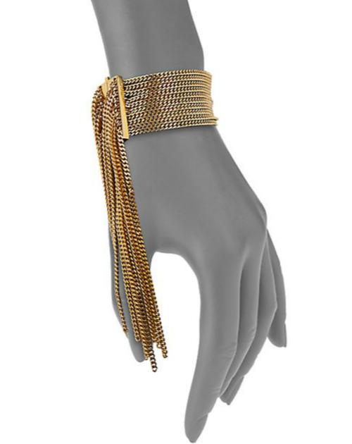 Chloé Delfine Fringe Chain Cuff Bracelet 3