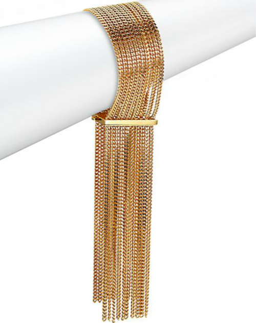 Chloé Delfine Fringe Chain Cuff Bracelet