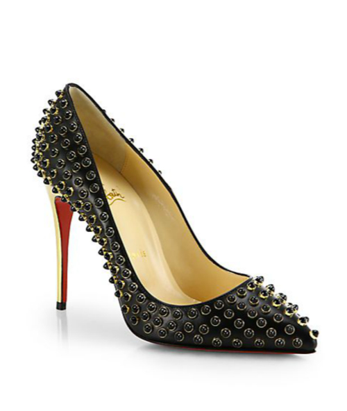 Christian Louboutin Beaded Leather Pumps