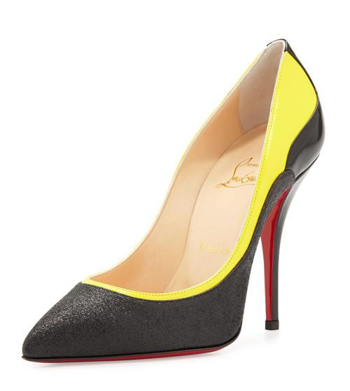 Christian Louboutin Tucsy Glitter & Patent Red Sole Pump