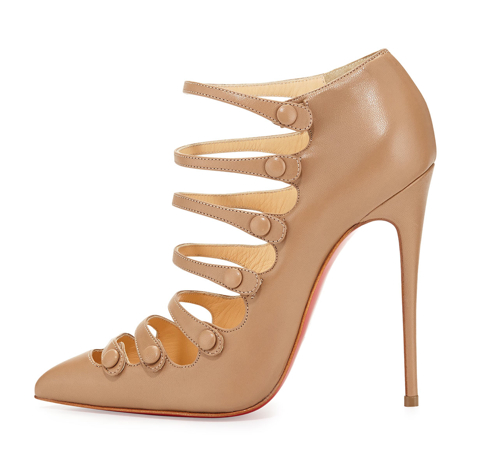 Christian Louboutin Viennana Strappy Leather Red Sole Bootie 2