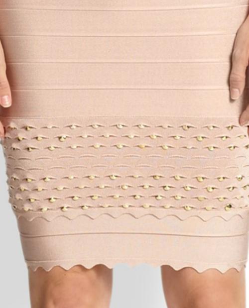 Herve Leger Scalloped Stud Bandage Dress 3