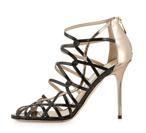 Jimmy Choo Fiscal Strappy Woven Leather Sandal 3