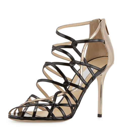 Jimmy Choo Fiscal Strappy Woven Leather Sandal