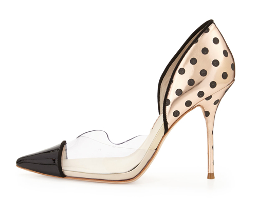 Sophia Webster Jessica Dotted Mixed-Media Pump 2