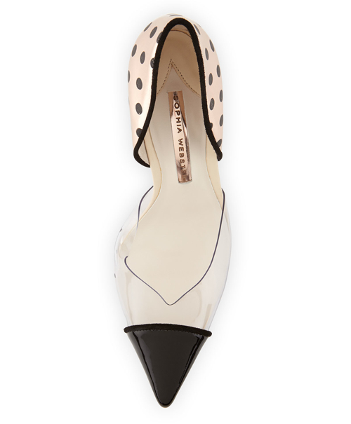 Sophia Webster Jessica Dotted Mixed-Media Pump 3