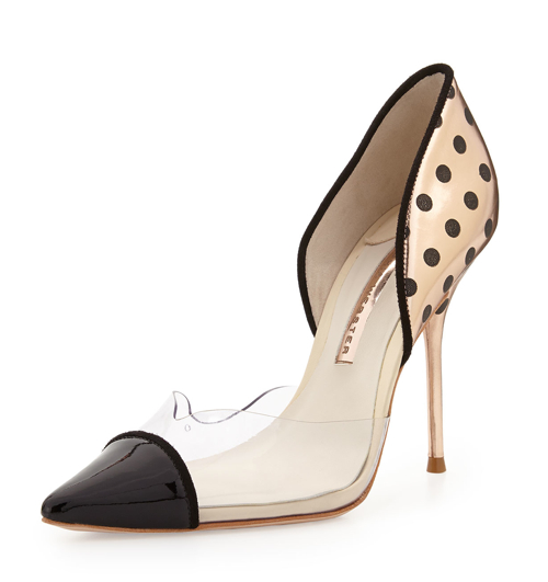 Sophia Webster Jessica Dotted Mixed-Media Pump