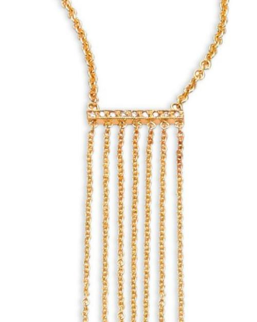 Zoe Chicco Diamond & 14K Gold Long Fringe Pendant Necklace 3