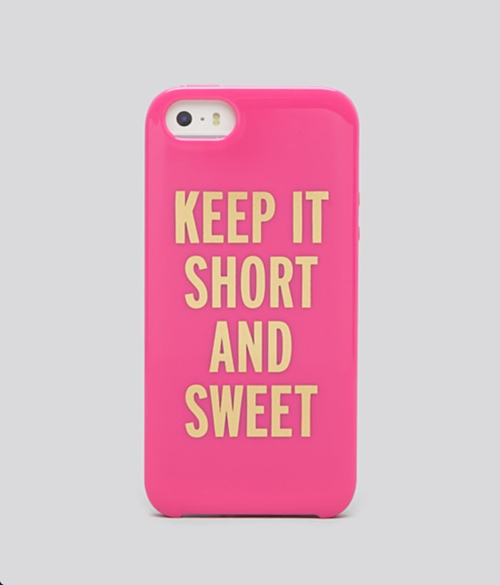 kate spade new york Keep It Short And Sweet iPhone 5s Case