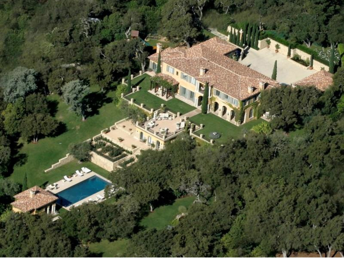 $23.5 Million Prima Luce Mansion in Montecito, California - Aerial View