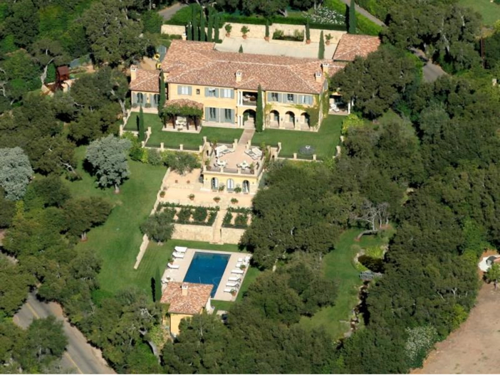 $23.5 Million Prima Luce Mansion in Montecito, California - Beautiful Aerial View