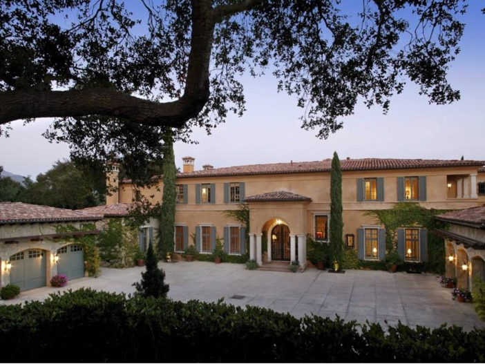 $23.5 Million Prima Luce Mansion in Montecito, California - Front Exterior