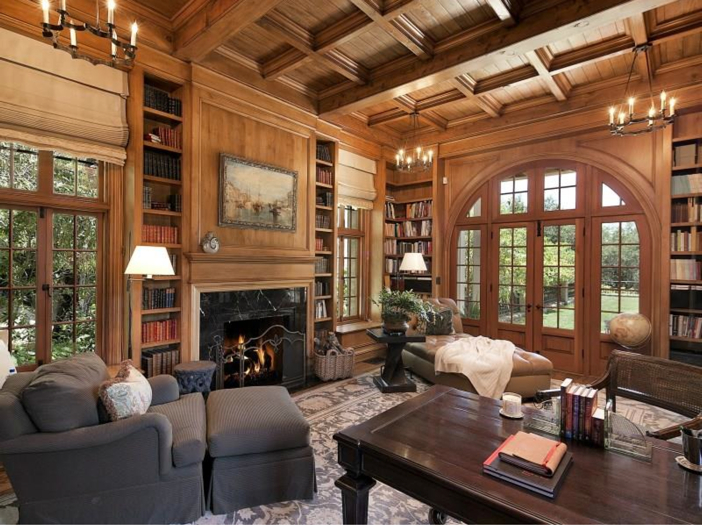$23.5 Million Prima Luce Mansion in Montecito, California - Library