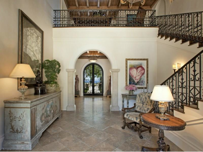 $23.5 Million Prima Luce Mansion in Montecito, California - Staircase and Foyer
