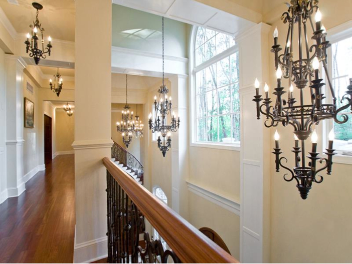 $3.2 Million European Style Country Estate in New Hope, Pennsylvania - Elegant Chandeliers