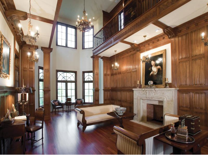 $3.2 Million European Style Country Estate in New Hope, Pennsylvania - Formal Sitting Room with Fireplace