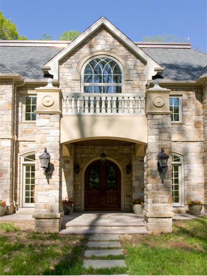 $3.2 Million European Style Country Estate in New Hope, Pennsylvania - Front Entrance
