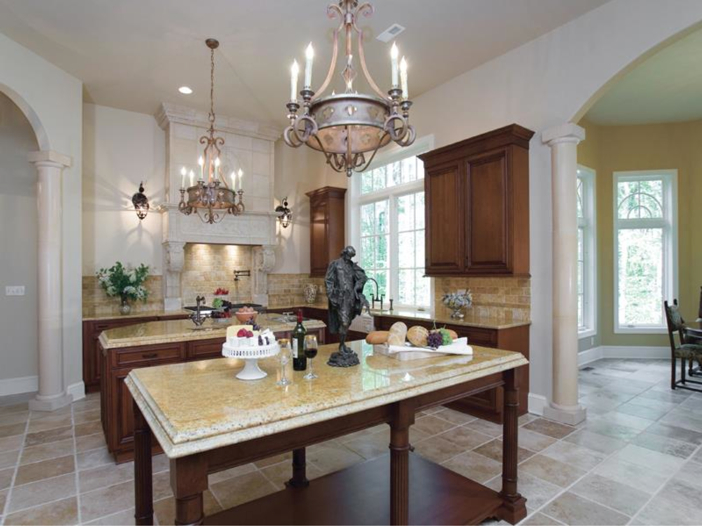 $3.2 Million European Style Country Estate in New Hope, Pennsylvania - Kitchen with Two Islands