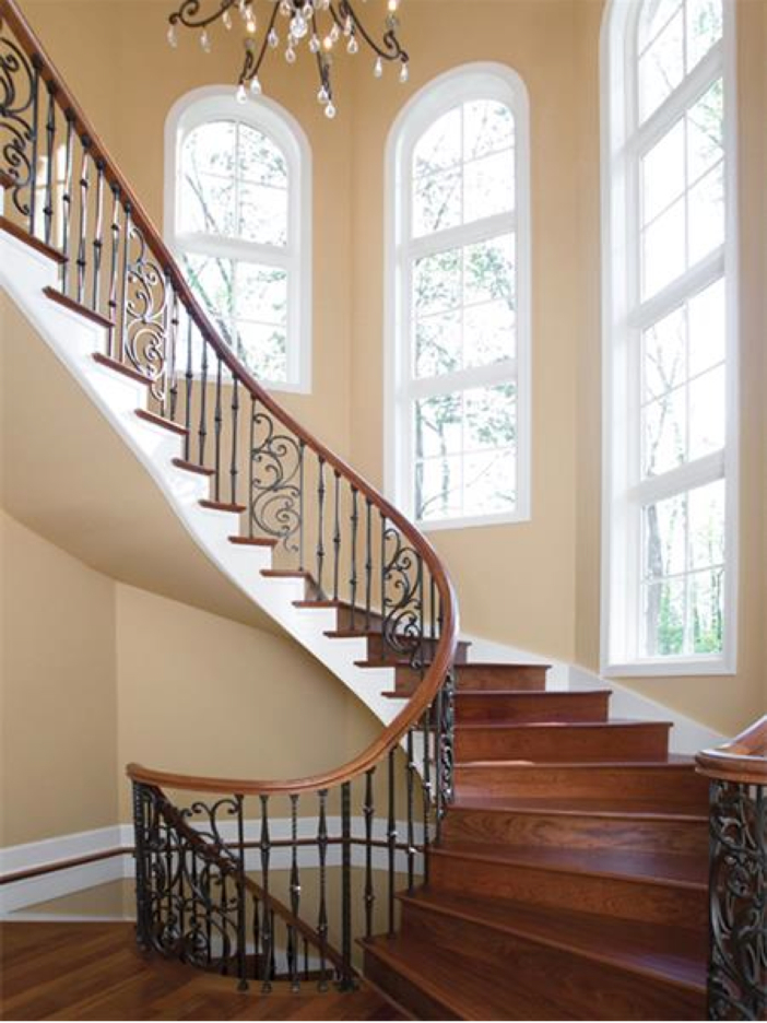 $3.2 Million European Style Country Estate in New Hope, Pennsylvania - Sweeping Staircase