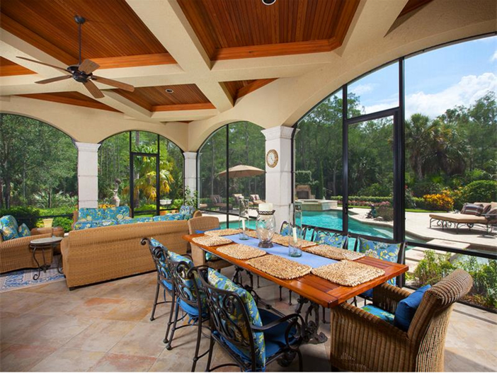 $3.2 Million Italian Inspired Mansion in Naples, Florida - Covered Outdoor Area