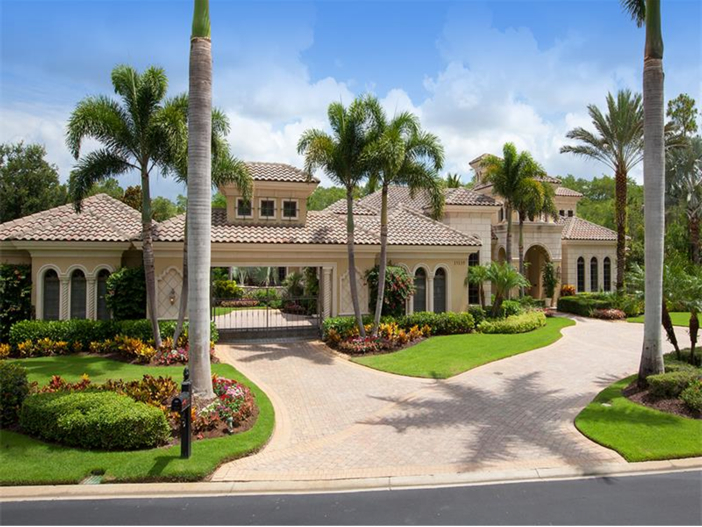 $3.2 Million Italian Inspired Mansion in Naples, Florida - Garages and Driveway