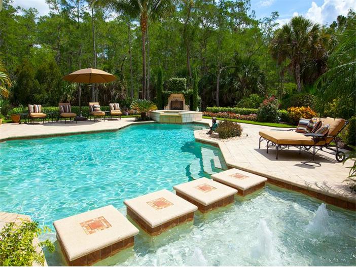 $3.2 Million Italian Inspired Mansion in Naples, Florida - Pool
