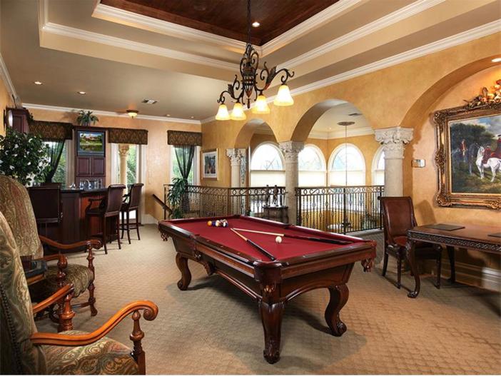 $4.5 Million Luxurious Estate in Naples, Florida - Billiards
