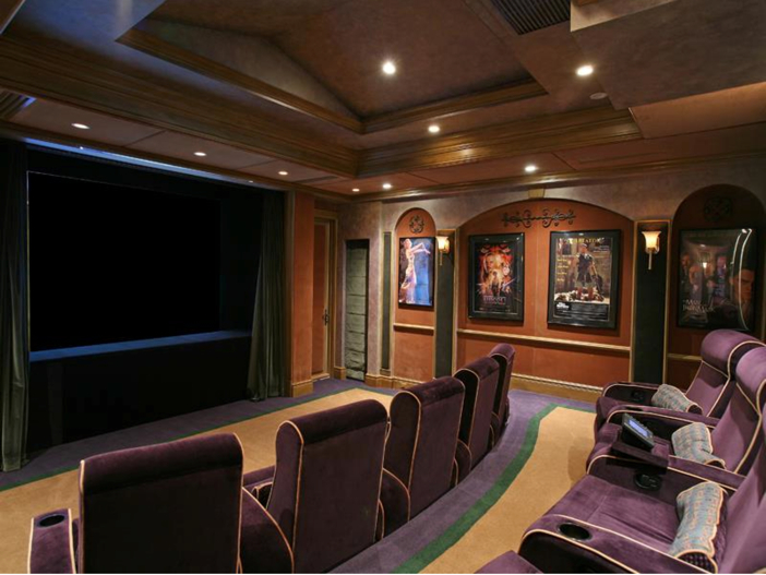 $4.6 Million Custom Waterfront Estate in Naples, Florida - Home Theater