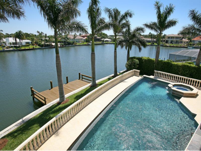 $4.6 Million Custom Waterfront Estate in Naples, Florida - Pool and Waterway