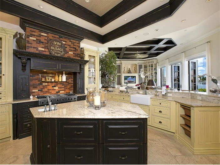 $5.1 Million Elegant European Mansion in Naples, Florida - Chef's Kitchen